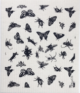 Ten & Co. Swedish Sponge Cloth Black Bugs