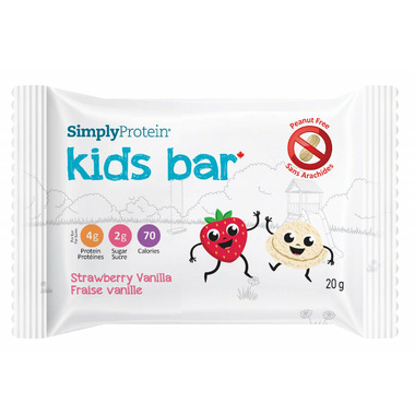 Simply Protein Kids Bars Strawberry Vanilla Case