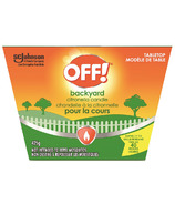 OFF! Backyard Citronella Tabletop Candle