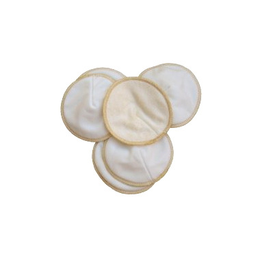 Mother ease Contoured Reusable Bamboo Nursing Pads