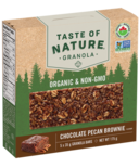 Taste of Nature Organic Granola Bars Chocolate Pecan Brownie