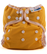 Mother ease Wizard Uno All in One Cloth Diaper Mustard One Size 7-35 lbs