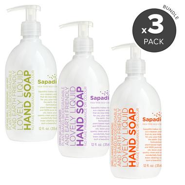 Sapadilla Hand Soap Trio Bundle