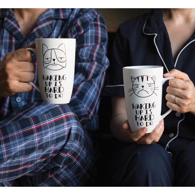 Now Designs Waking Up Tall Porcelain Mug