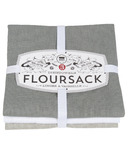 Now Designs Floursack Teatowel Set London, White & Grey
