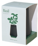 Modern Sprout Black Tapered Tumbler Basil