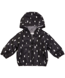 Miles Baby Black Play Block Rain Bomber Jacket 12M-24M