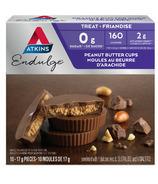 Atkins Paquet de 10 coupes au beurre d'arachides Endulge Treats