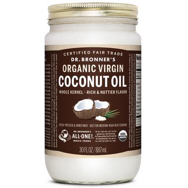 Dr. Bronner\'s Organic Whole Kernel Virgin Coconut Oil Large