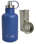 Eco Vessel BOSS Vacuum Insulated Stainless Steel Growler Bottle Blue