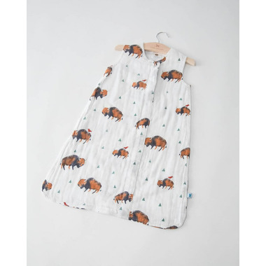 Little Unicorn Cotton Muslin Sleep Bag Bison