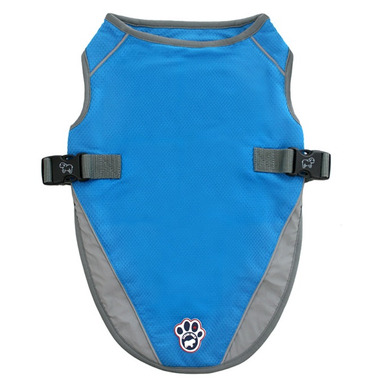 Canada Pooch Chill Seeker Cooling Vest in Aqua Size 22