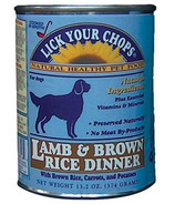 Lick Your Chops Lamb & Brown Rice Dinner Dog Food CASE OF 12