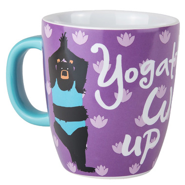 Hatley Little Blue House Ceramic Mug Yogatto Wake Up