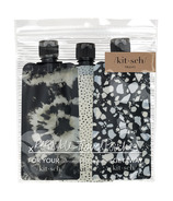 Kitsch Refillable Travel Pounches Black & Ivory