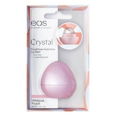 eos Crystal Weightless Hydration Lip Balm Hibiscus Peach