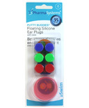 PharmaSystems Putty Buddies Floating Silicone Ear Plugs & Case