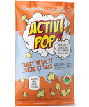 ActivPOP Sweet N Salty Popcorn with Activated Charcoal Infused Sea Salt