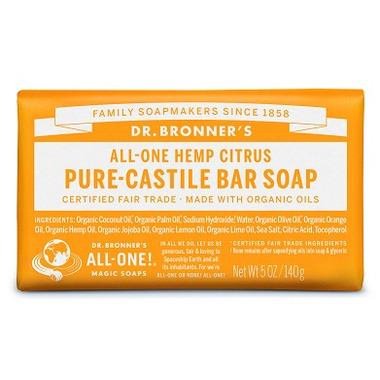 Dr. Bronner\'s Pure Castile Bar Soap Citrus Orange