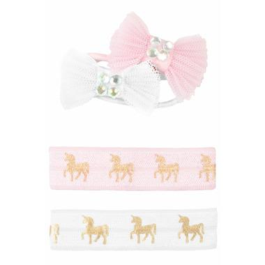 Great Pretenders Pink Unicorn Hair Ties & Bows