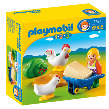 Playmobil Farmer\'s Wife with Hens