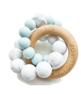 Loulou Lollipop Trinity Wood & Silicone Teether Robin's Egg Blue