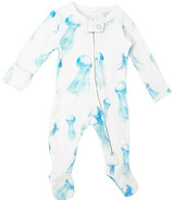L'oved Baby Organic Zipper Footed Overall Jellyfish