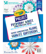 Crayola Project Premium White Construction Paper