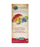 Garden of Life mykind Organics Plant Iron & Organic Herbs Cranberry Lime