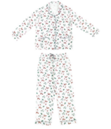 Nest Designs Women's Bamboo Long Sleeve Button-up Pj Set Fox Tots