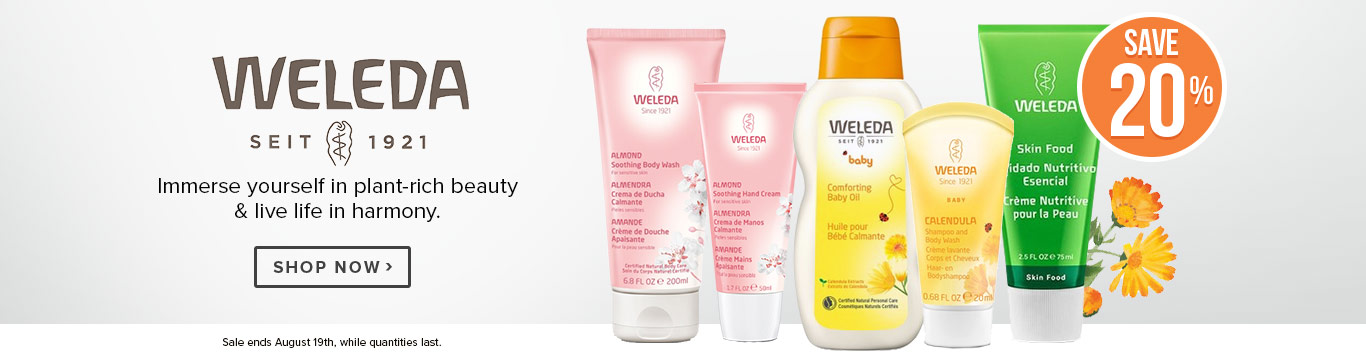 Save 20% off Weleda