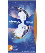 Always Infinity Overnight Sanitary Pads with Wings