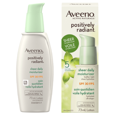 Aveeno Face Positively Radiant Sheer Daily Moisturizer
