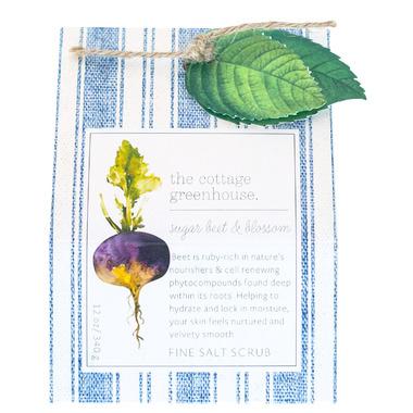 The Cottage Greenhouse Sugar Beet & Blossom Fine Salt Scrub
