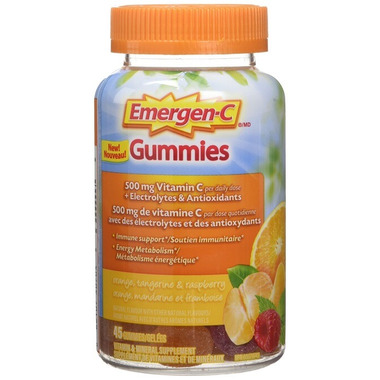 Emergen-C Immune Gummie Orange Tangerine Raspberry