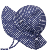 Jan & Jul Cotton Bucket Hat Navy Waves