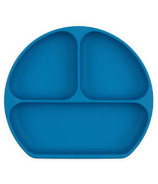 Bumkins Silicone Grip Dish Deep Blue
