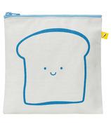 Fluf Zip Snack Bag Bread Blue