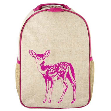 SoYoung Raw Linen Pink FawnToddler Backpack