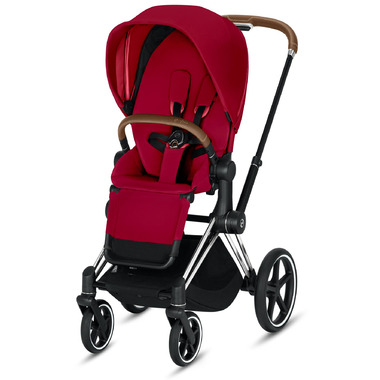 Cybex Priam Chrome Brown Frame with True Red Seat Pack