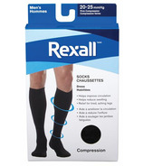 Rexall Men's Compression Dress Socks Black