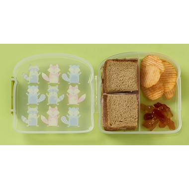Sugarbooger Good Lunch Sandwich Box What did the Fox Eat