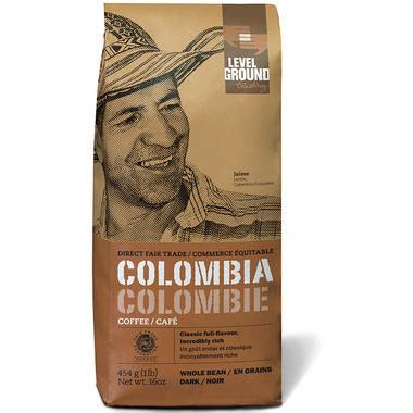 Level Ground Colombian Dark Roast Coffee Beans