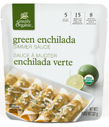 Simply Organic Simmer Sauce Green Enchilada
