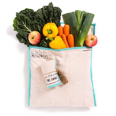 The Swag Produce Bag Large Aqua Trim