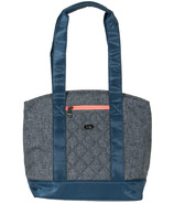 Lug Scooter Lunch Tote Heather Grey and Coral