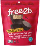 free2b Dark Chocolate Sunflower Butter Mini Cups