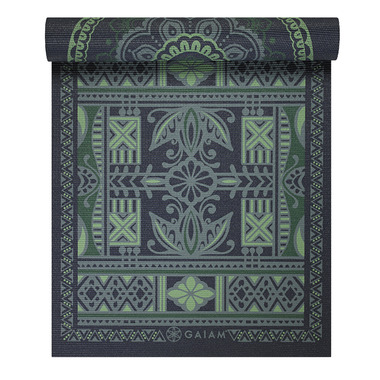 Gaiam Reversible Print Yoga Mat Boho Folk