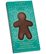 Galerie au Chocolat Pure Dark Chocolate Gingerbread Man