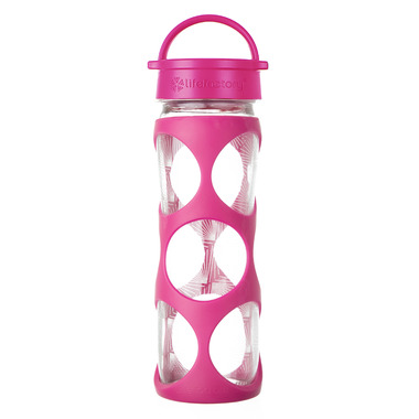 Lifefactory Glass Bottle Hot Pink Classic Cap & Silicone Sleeve